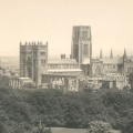 Durham cathedral viewed from Observatory Hill in 1918