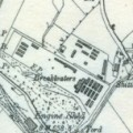 Stanhope Prisoner of War Camp, shown on 6 inch OS map