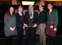 Receiving award (left to right): Gillian Robinson, Gill Parkes, Cllr John Robinson (Chairman of the County Council and Mayor), Nick Boldrini, Victoria Oxberry