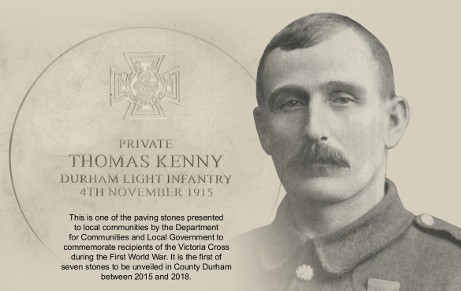 Thomas Kenny VC commemorative paving stone