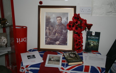 Historical display at Brandon British Legion